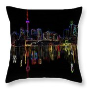 Cn Tower Outline Throw Pillow