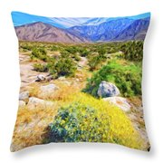 Coachella Spring Throw Pillow