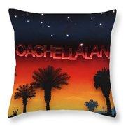 Coachellaland Throw Pillow