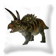 Coahuilaceratops Profile Throw Pillow
