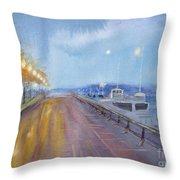Coal Harbor At Night Throw Pillow