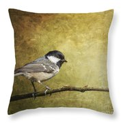Coal Tit Periparus Ater Throw Pillow