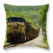 Coal Train Throw Pillow