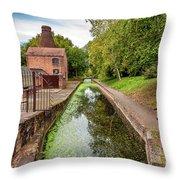 Coalport Bottle Kiln  Throw Pillow