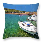 Coast And Beach Of Prvic Island Summer View Throw Pillow