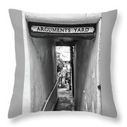 Coast - Arguments Yard, Whitby, England Throw Pillow