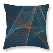 Coast Computer Graphic Line Pattern Throw Pillow