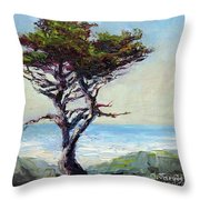 Coast Cypress Throw Pillow