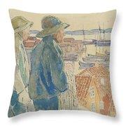 Coast Fishermen Throw Pillow