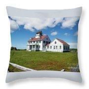 Coast Guard Building, Cape Cod Throw Pillow