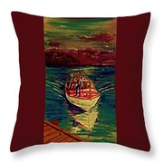 Coast Guard Before The Storm Throw Pillow
