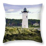 Coast Guard Light Throw Pillow