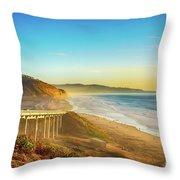 Coast Highway Del Mar Throw Pillow