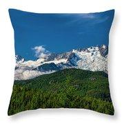 Coast Mountains Throw Pillow