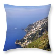 Coast Of Amalfi Throw Pillow
