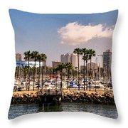 Coast Of Long Beach #3 Throw Pillow