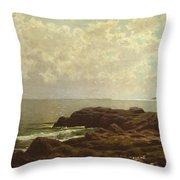 Coast Off Grand Manan Throw Pillow