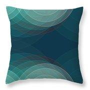 Coast Semi Circle Background Horizontal Throw Pillow
