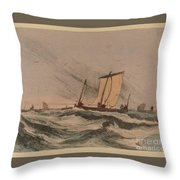 Coast Stormy Sea Throw Pillow