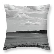 Coast - The Lonely Boat Throw Pillow