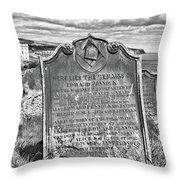 Coast - Whitby Freemason Grave Throw Pillow