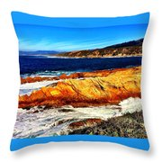 Coastal Abstraction Throw Pillow