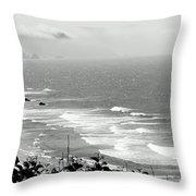 Coastal Bandw Throw Pillow