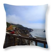 Coastal Beauty Throw Pillow