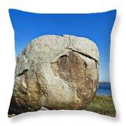 Coastal Boulder Throw Pillow