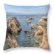 Coastal California Throw Pillow