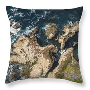 Coastal Crevices Throw Pillow