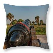 Coastal Fortification Throw Pillow