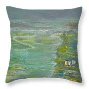 Coastal House Throw Pillow