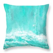 Coastal Inspired Art Throw Pillow