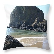 Coastal Landscape - Cannon Beach Afternoon - Scenic Lanscape Throw Pillow