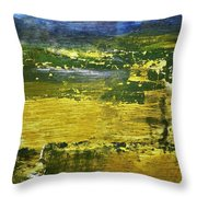 Coastal Marsh View Abstract Throw Pillow
