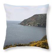 Coastal Path Cornwall Throw Pillow