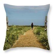 Coastal Path Throw Pillow