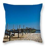 Coastal Remains Throw Pillow
