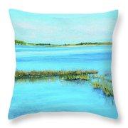 Coastal River Throw Pillow