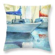 Coastal Sails Throw Pillow