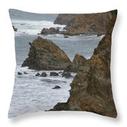 Coastal Storm Throw Pillow