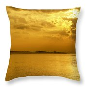Coastal Sunrise Throw Pillow