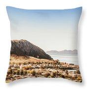 Coastal Tasmanian Town Throw Pillow