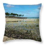 Coastal Textures Throw Pillow