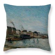 Coastal Village Throw Pillow