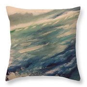 Coastal Waters Throw Pillow by Gregory Dallum