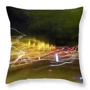 Coaster Of Lights Throw Pillow