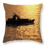 Coastguard Vessel Throw Pillow