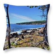 Coastline At Otter Point 1 Throw Pillow